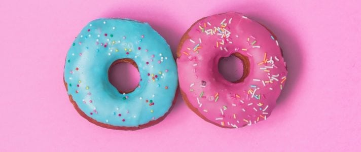 Image of a blue and pink donut - Illustration and Icons for Awesome Web Design