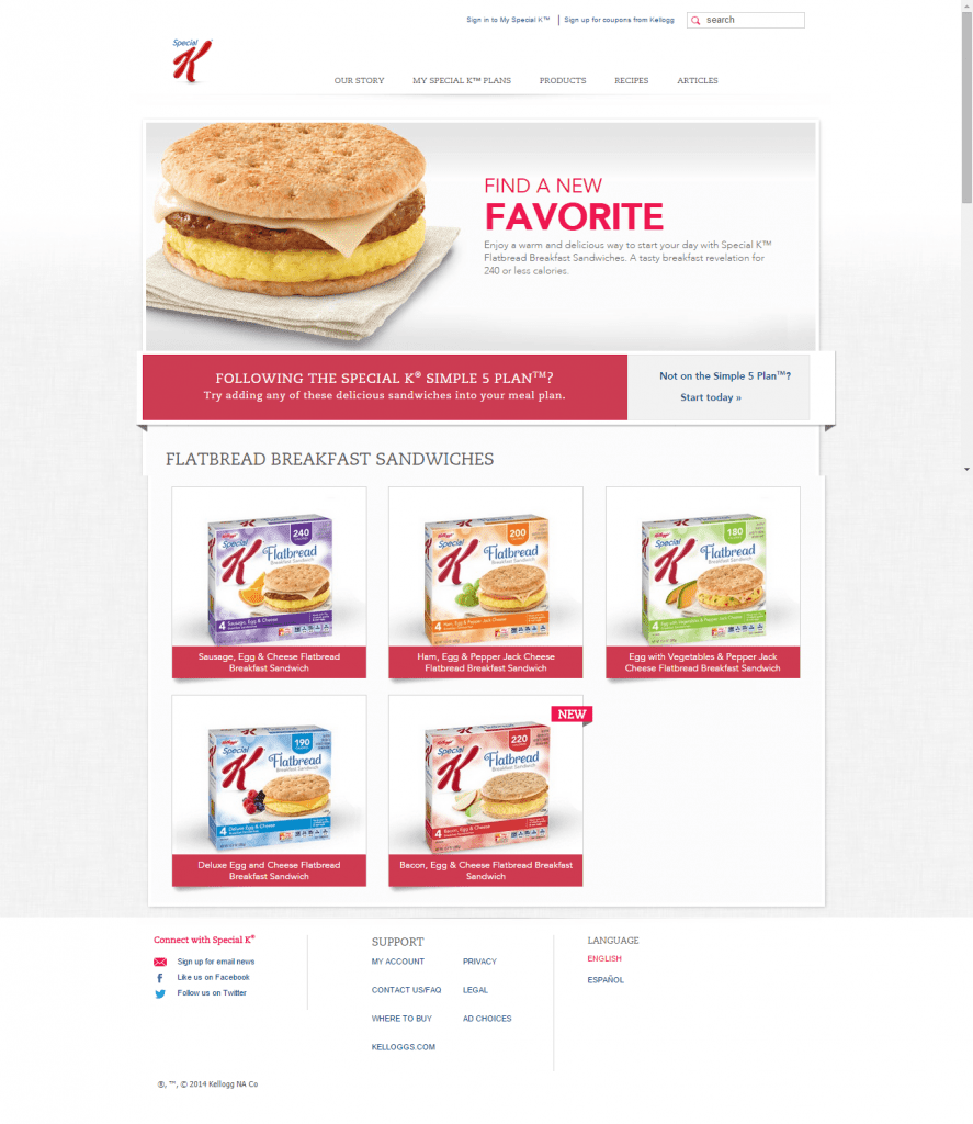 Special K Landing Page