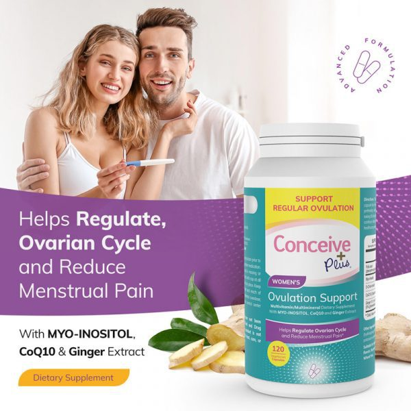 Conceive Plus Women's Ovulation & PCOS Support Dietary Supplements D-Chiro Inositol