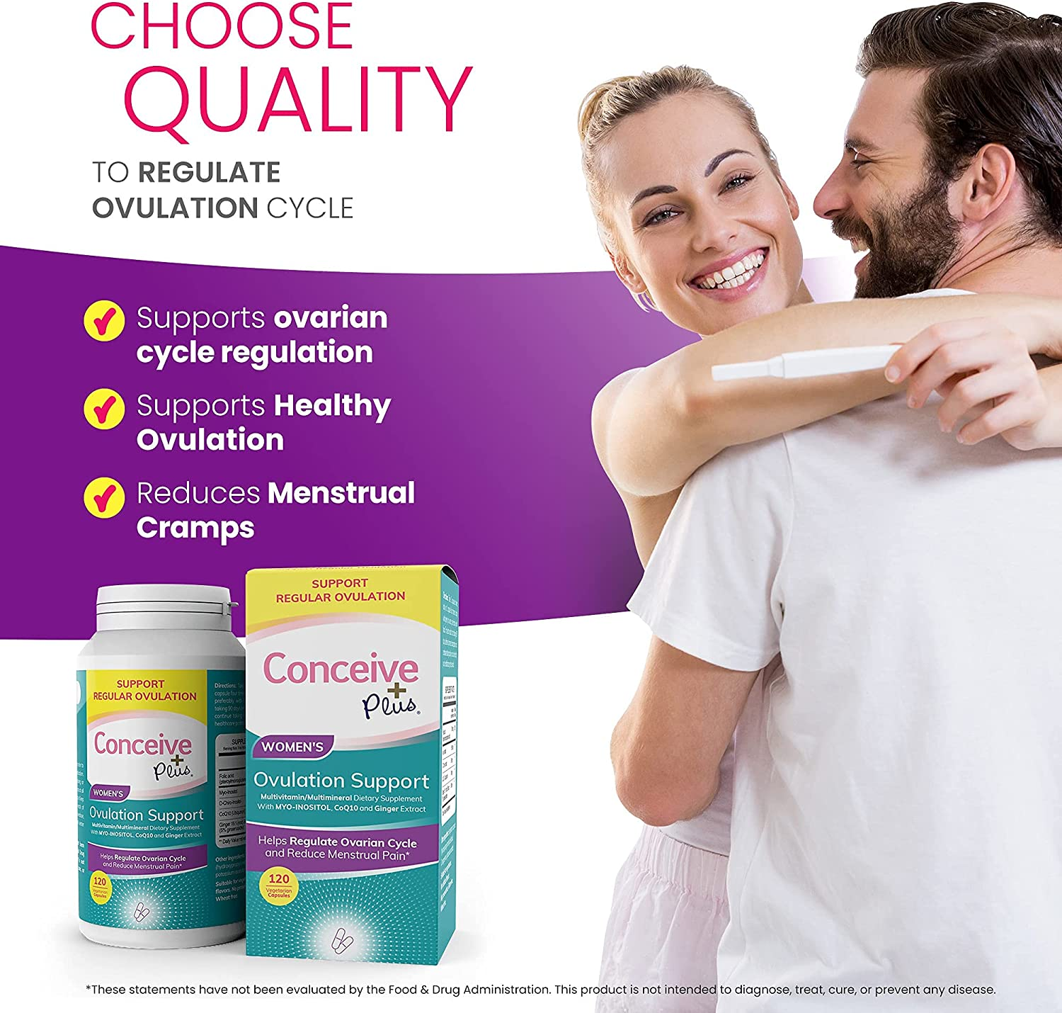Conceive Plus Women's Ovulation & PCOS Support Fertility Supplements